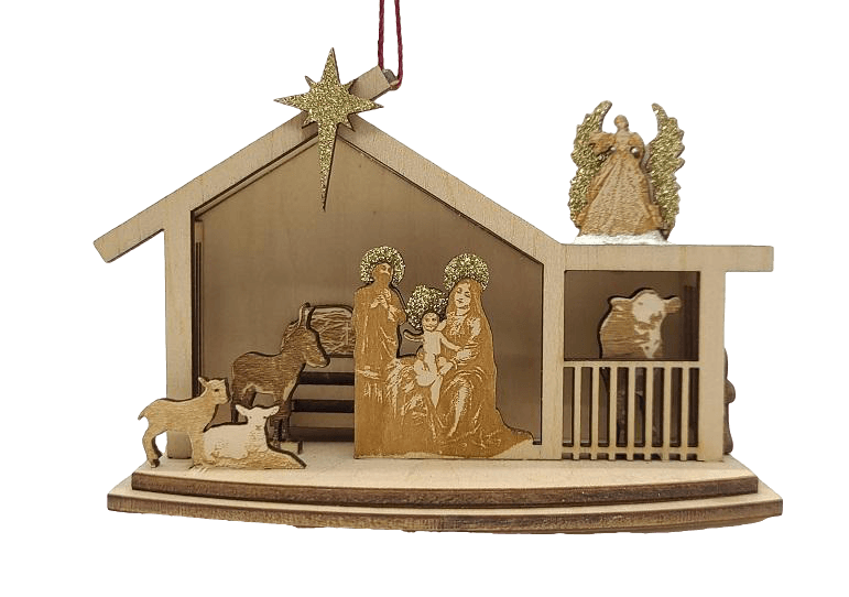 Wood Village Nativity Christmas Village - Schmidt Christmas Market Christmas Decoration