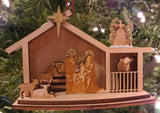 Wood Village Nativity - Schmidt Christmas Market Christmas Decoration