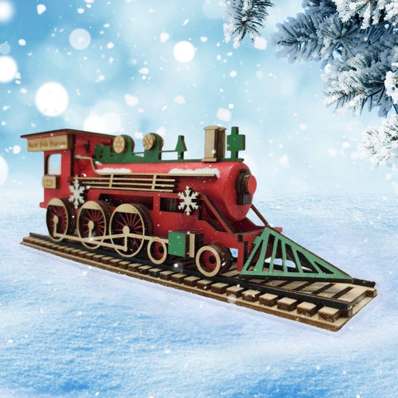 Wood Village Train Set - Schmidt Christmas Market Christmas Decoration