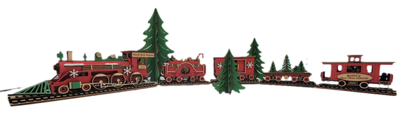 Wooden Train Set - Lighted - Schmidt Christmas Market Christmas Decoration