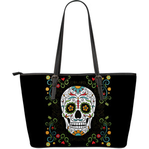 Flower Sugar Skull Large Tote