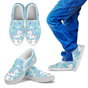Unicorn Kid's Slip Ons