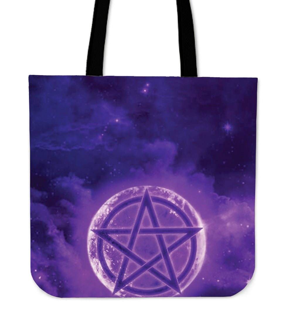 Wicca Style 2 Premium Poly Cotton Tote Bag