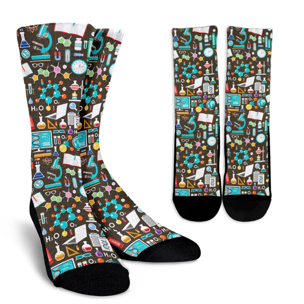Science Pattern Socks