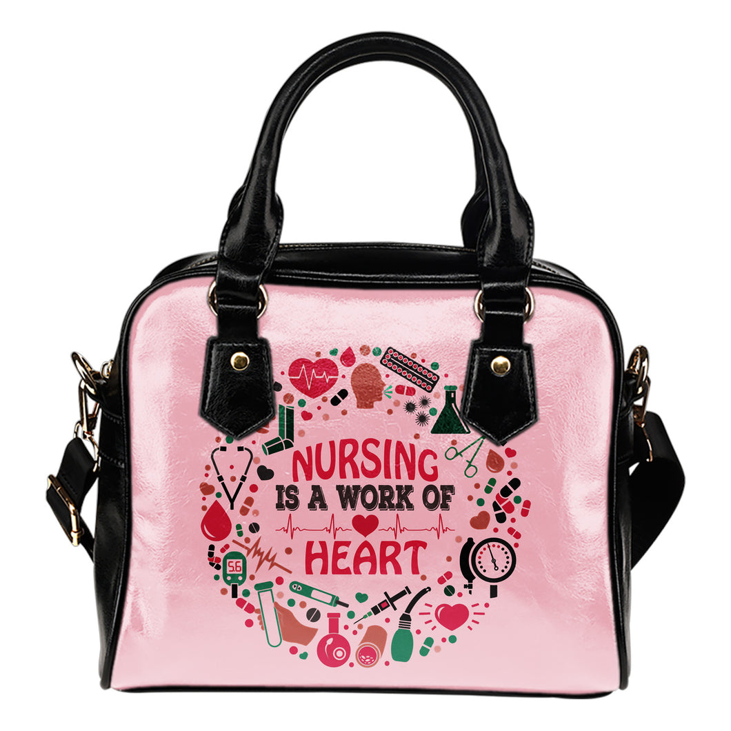 NURSE IS A WORK OF HEART HANDBAG