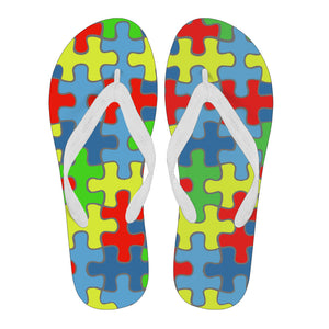 Autism Awareness Men's Flip Flops