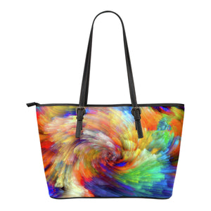 Painted Colours Small Leather Handbag