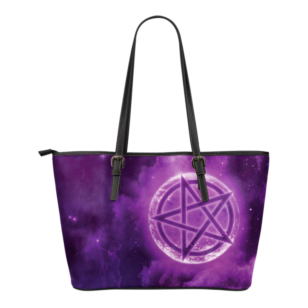 Wicca Style 2 Small Leather Tote Bag