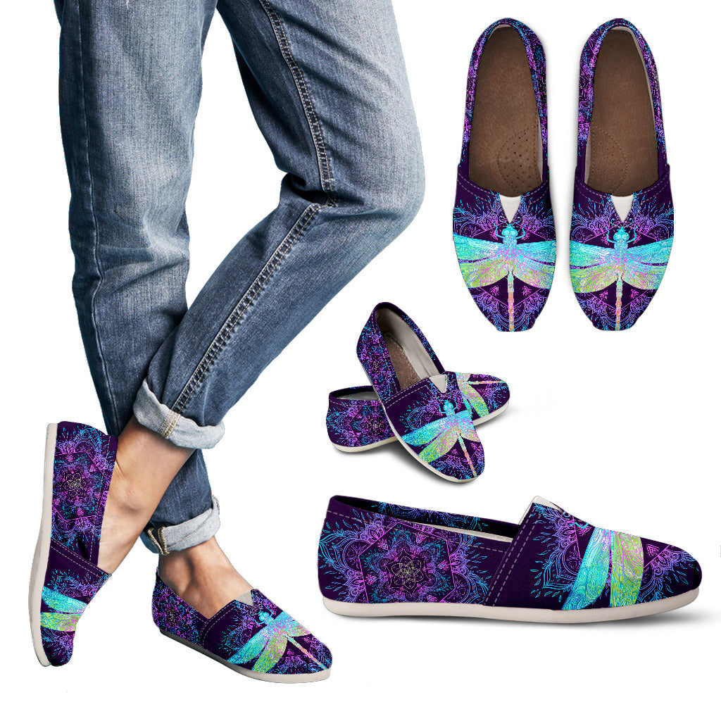 Purple Dragonfly Handcrafted Casual Shoes