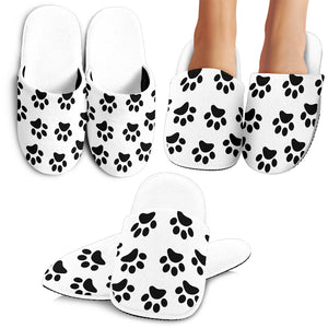Paw prints slippers