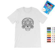 Load image into Gallery viewer, Skull A Colouring T-Shirt