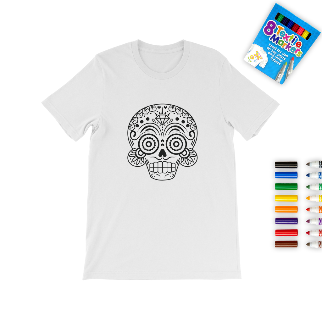 Skull A Colouring T-Shirt