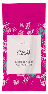 CBD Ask Me How - Beach Towel