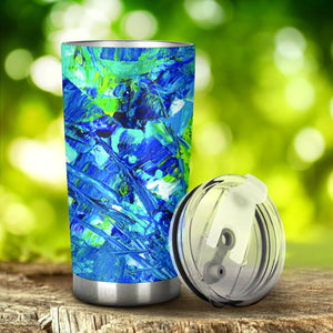 Abstract Oil Paintings P3 - Travel Tumbler