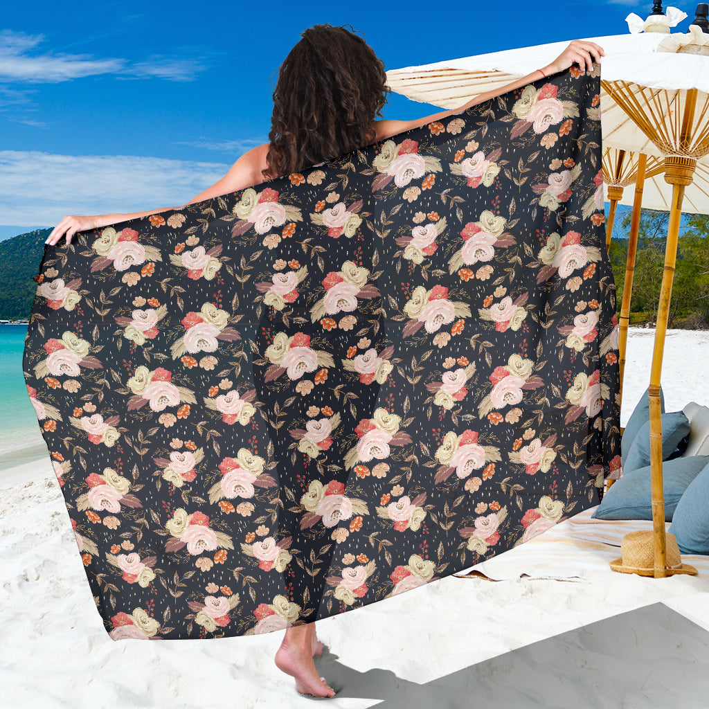 Autumn Fall Floral - Sarong Wrap