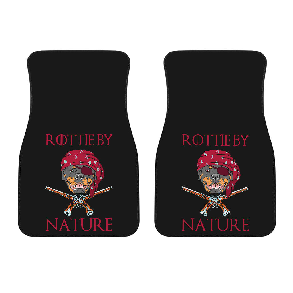 Rottie By Nature Universal Front Car Mats