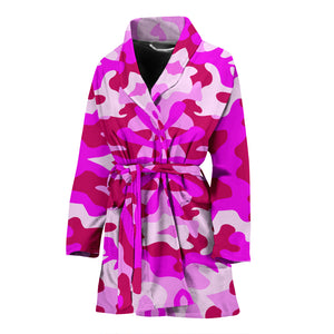 Pink Camouflage Womens Bath Robe
