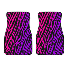 Load image into Gallery viewer, Rainbow Zebra Front Car Mats (Set Of 2)