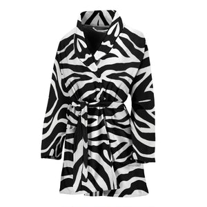 Zebra Print Womens Bath Robe