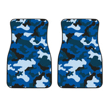 Load image into Gallery viewer, Blue Camouflage Car Floor Mats