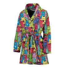 Load image into Gallery viewer, Cartoon Cat Women's Bath Robe