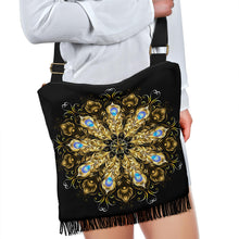 Load image into Gallery viewer, Golden Peacock Mandala Boho Bag