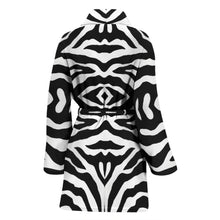 Load image into Gallery viewer, Zebra Print Womens Bath Robe