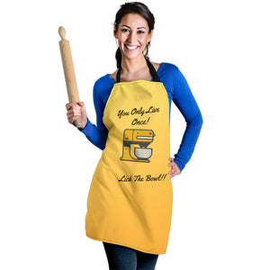 Women's Apron - Lick The Bowl
