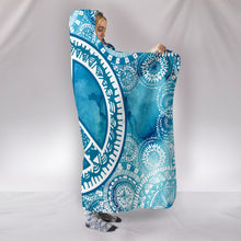 Load image into Gallery viewer, Blue Peace Mandala Hooded Blanket