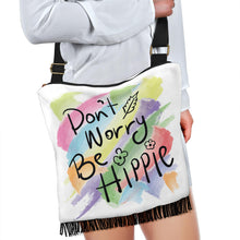 Load image into Gallery viewer, Don't Worry Be Hippie Boho Bag