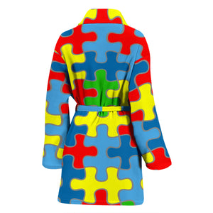 Autism Awareness Women's Bath Robe