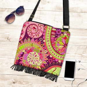 Pink Purple Paisley Wild Crossbody Bag