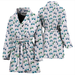 Happy Cat Bath Robe Women's Bath Robe