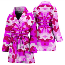 Load image into Gallery viewer, Pink Camouflage Womens Bath Robe