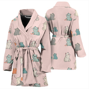 Plump Cat Women's Bath Robe