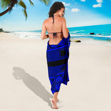 Load image into Gallery viewer, Sarong Black & Blue
