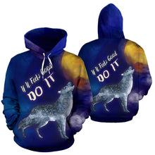 Load image into Gallery viewer, If It Feels Good Do It All Over Print Hoodie Wolf Howling At The Moon