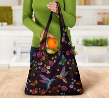 Load image into Gallery viewer, Hummingbird Reusable Grocery Bags Set