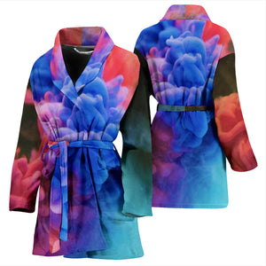 Bathrobe Watercolor Smoke Women's