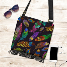 Load image into Gallery viewer, Feather Boho Bag