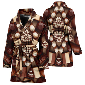 Chocolate Lovers Womens Bath Robe