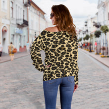 Load image into Gallery viewer, Leopard Pattern Off Shoulder Sweater