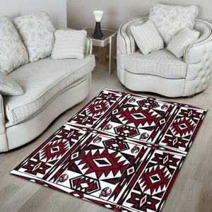 Native Stylish Area Rug Great for any Room Black (red)