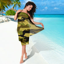Load image into Gallery viewer, Green Camouflage Scarf Sarong