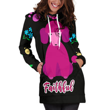 Load image into Gallery viewer, Faithful Poodle Dog Hoodie Dress Cute Poodle Dogs