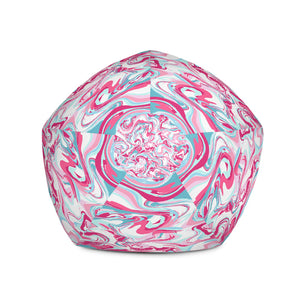 Pink Marble-Bean Bag Chair w/ filling