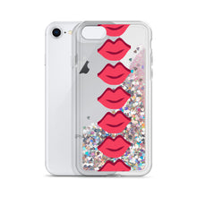 Load image into Gallery viewer, Lips Liquid Glitter Phone Case