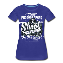 Load image into Gallery viewer, Street Photographer-Women's Premium T-Shirt - royal blue