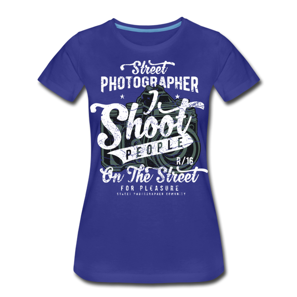 Street Photographer-Women's Premium T-Shirt - royal blue