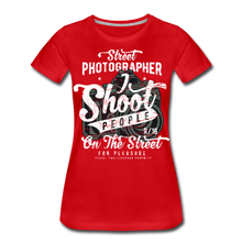 Load image into Gallery viewer, Street Photographer-Women's Premium T-Shirt - red